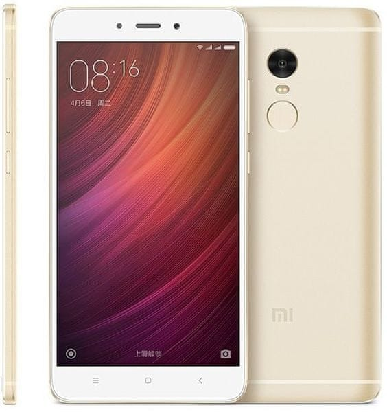 Xiaomi Redmi Note 4, 2 GB / 16 GB, Dual SIM, zlatý