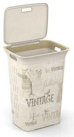 Kis Kôš na špinavú bielizeň 50 l Vintage Fashion