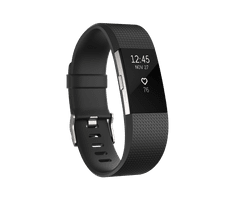 Fitbit Charge 2, Black/Silver, Large