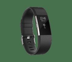 Fitbit aktivna zapestnica Charge 2, Black/Silver, L