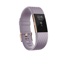 Fitbit Charge 2, Lavender Rose/Gold, Large