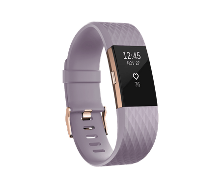 Fitbit Charge 2, Lavender/Rose Gold, Small