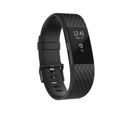 Fitbit Charge 2, Black/Gunmetal, Small