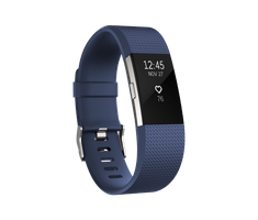 Fitbit Charge 2, Blue Silver, Small