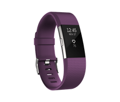 Fitbit Charge 2, Plum/Silver, Large
