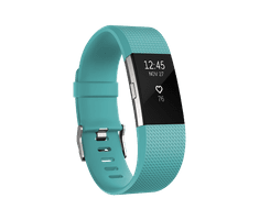Fitbit Charge 2, Teal/Silver, Small