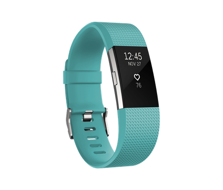 Fitbit aktivna zapestnica Charge 2, Teal/Silver, Small