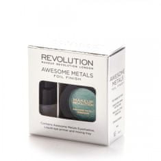 Makeup Revolution metaliczny cień do powiek Awesome Metals Foil Finish - Emerald Goddess - 1,5 g