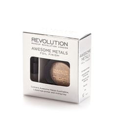 Makeup Revolution metaliczny cień do powiek Awesome Metals Foil Finish - Rose Gold - 1,5 g