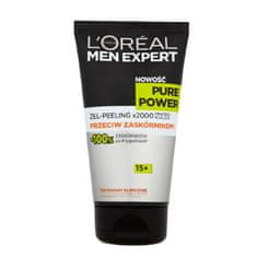 L'Oréal żel - peeling Men Expert Pure Power 15+ przeciw zaskórnikom - 150 ml