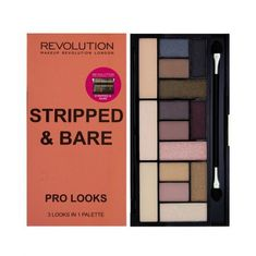 Makeup Revolution paleta cieni do powiek Pro Looks Stripped & Bare - 13 g