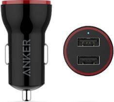 Anker avtopolnilec PowerDrive 2 Lite, 24 W, črn