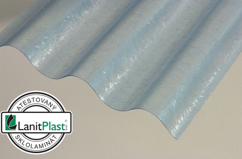 LanitPlast Sklolaminátová role 76/18 výška 2,5 m modrá 19 m