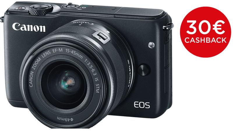 Canon EOS M10 + EF-M 15-45 mm IS STM Black + 1000 Kč od Canonu zpět