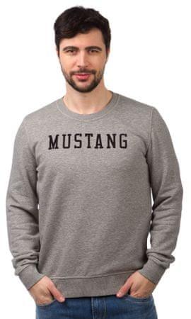 Mustang férfi pulóver S szürke  78d4389a27