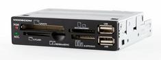 Modecom čitalec kartic CR-108, 2x USB 2.0, vgradni