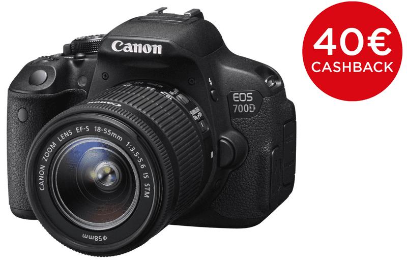 Canon EOS 700D + 18-135 mm IS STM + 1300 Kč od Canonu zpět