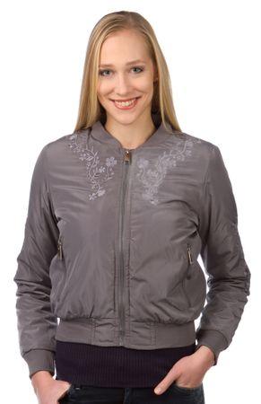 Brave Soul ženska jakna Florals XS siva