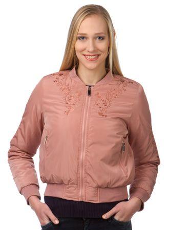 Brave Soul ženska jakna Florals S roza