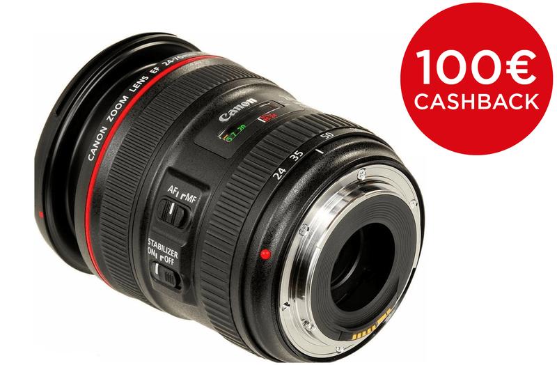 Canon EF 24-70mm f/4L IS USM + 5000 Kč od Canonu zpět