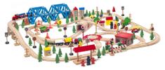"""Woody Vláčkodráha """"Super Train"""" v dřevěné krabici, 170 dílů"""