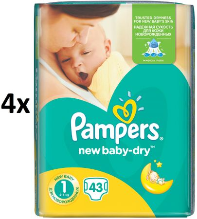 Pampers plenice New Baby 1 Newborn, 172 kosov