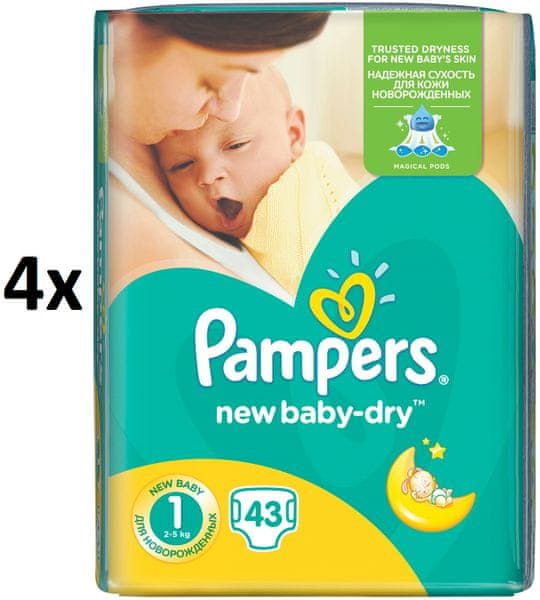 Pampers Pleny New Baby 1 Newborn - 172 ks