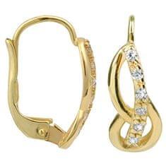 Brilio Náušnice ze žlutého zlata s krystaly 239 001 00686 - 1,75 g