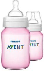 Avent Kojenecká lahev Classic+ 260 ml, 2 ks Pink Edition (1+1 zdarma)