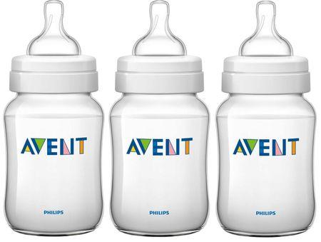 Avent Dojčenská fľaša Classic + 260 ml, 3 ks