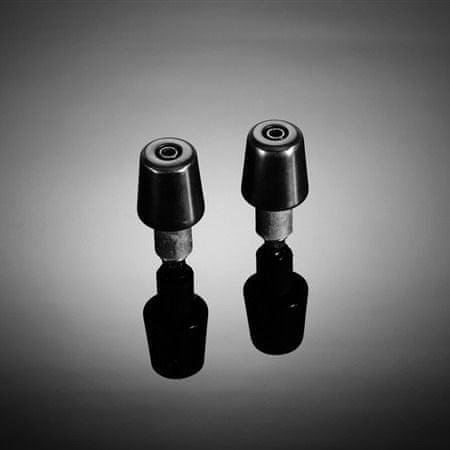 """Highway-Hawk koncovky riadidiel 25mm (1"""")  SMOOTH, kónické, čierna (2ks)"""