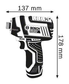 BOSCH Professional akum. rotirajući udarni odvijač GDR 12V-105 Professional (06019A6901)