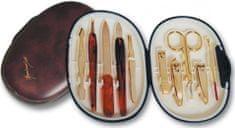 Three Seven Manikúrny set ovál - 10 nástrojov