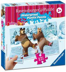 Ravensburger Máša a Medveď 12 plast. dielikov III