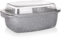 Banquet Pekáč Granite se skleněnou poklicí 5,7l