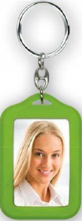 ZEP obesek s foto okvirjem (AP35GR), 2 x 3,5 x 4,5 cm, zelen