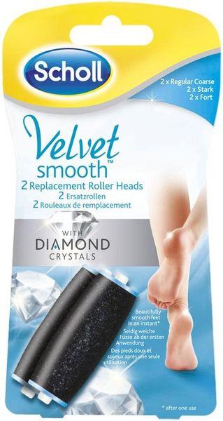 Scholl Velvet Smooth náhradní válečky hrubá 2ks