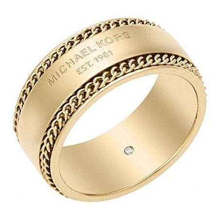 Michael Kors Pozlátený oceľový prsteň MKJ5892710 60 mm