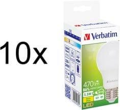 Verbatim E27, 5,5 W, 470 lm LED izzó, 10 db