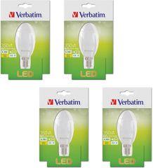 Verbatim E14, 4,5 W, 350 lm LED izzó, 4 db