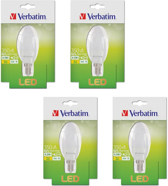 Verbatim LED žárovka E14 4,5W 350lm 4ks