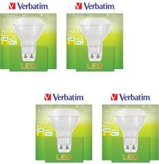 Verbatim GU10, 3,6 W, 250 lm LED izzó, 4 db