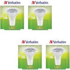 Verbatim GU5.3, 3,3 W, 250 lm LED izzó, 4 db