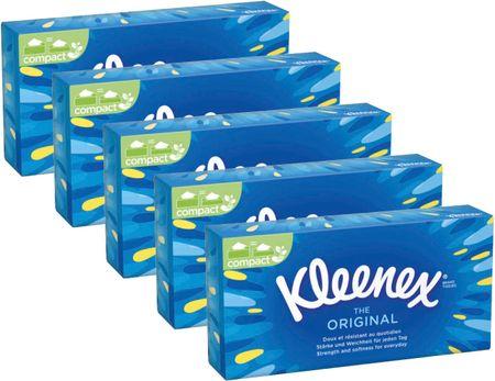 Kleenex Original Papírové kapesníčky Box 5x 70 ks