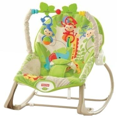 Fisher-Price Sedátko od miminka po batole Rainforest CBF52