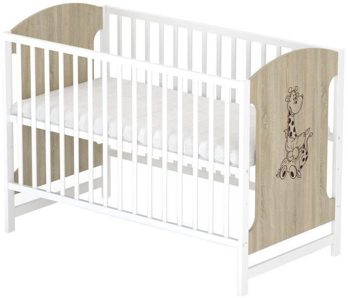 Sun Baby Dřevěná postýlka Baby Sky - MIKI 102
