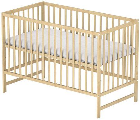 Sun Baby Drewniane łóżeczko Baby Sky klasik sosna