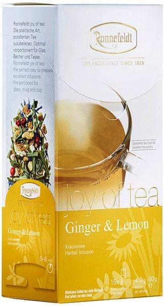 Ronnefeldt Joy of Tea Ginger & Lemon 15 sáčků