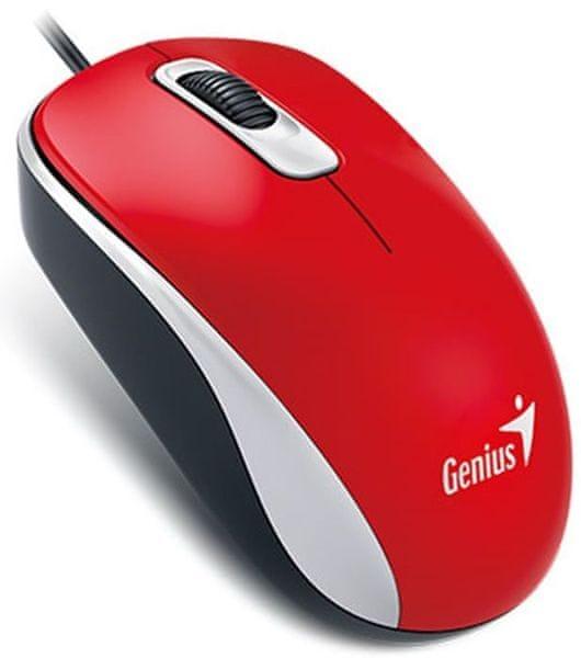 Genius DX-110, drátová, 1000 dpi, USB, červená (31010116111)