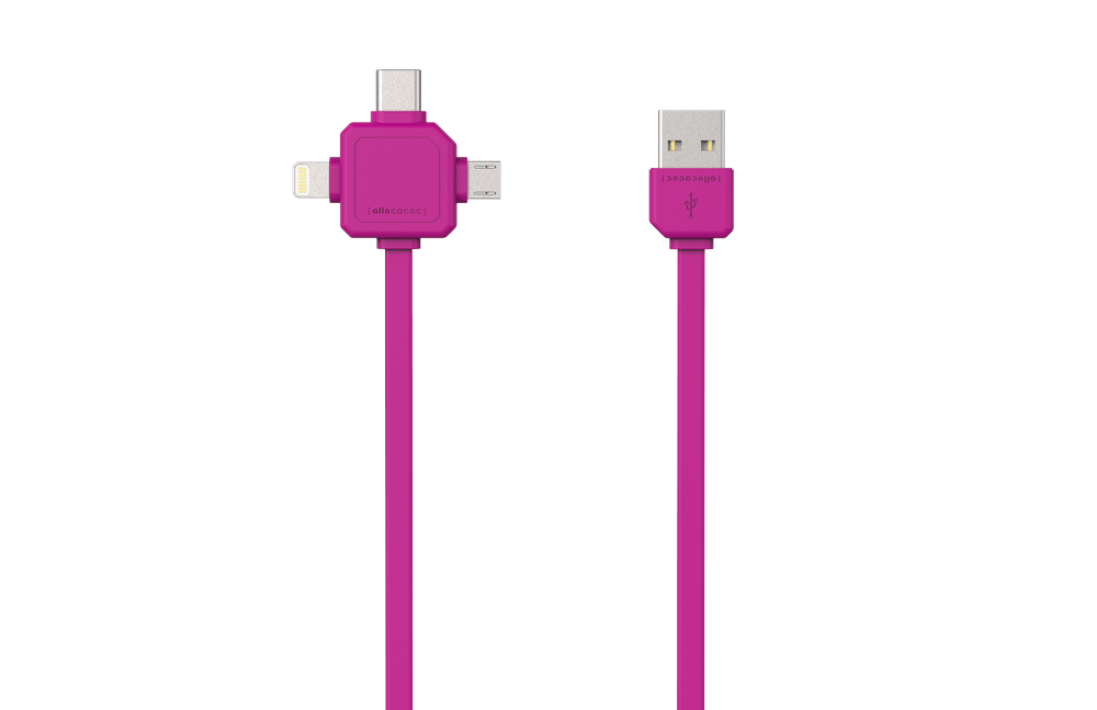 PowerCube USBcable USB-C Pink